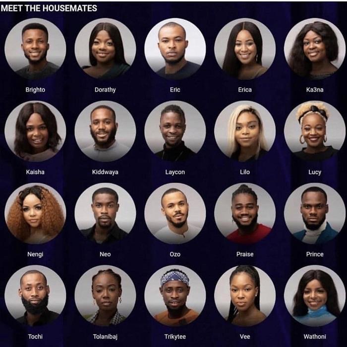 BB Naija 2020 House Mates