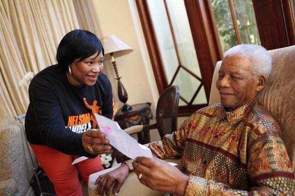 Zindzi Mandela and Father