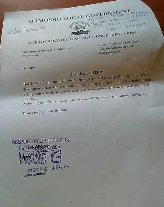 Lagos Govt Mandates POS Operators To Pay N10,000 Each