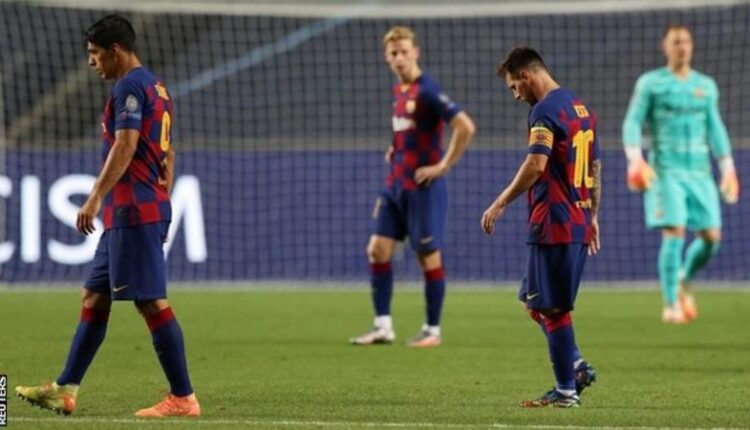 Barcelona's season ended with an 8-2 defeat by Bayern Munich in the Champions League quarter-finals