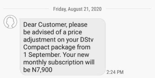 New DStv Subscription for September 1