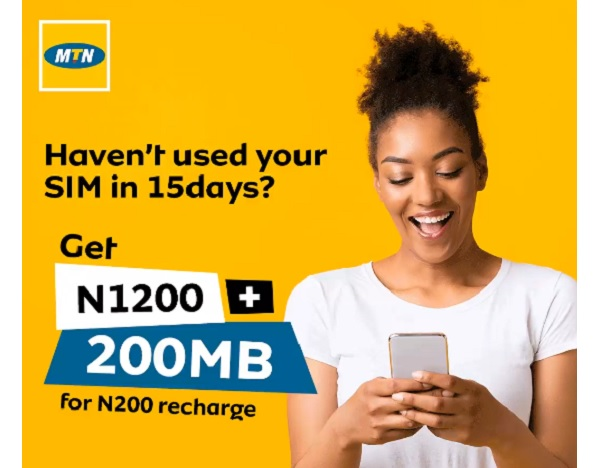 MTN 6X bonus for SIM not in use for a period of 15 days