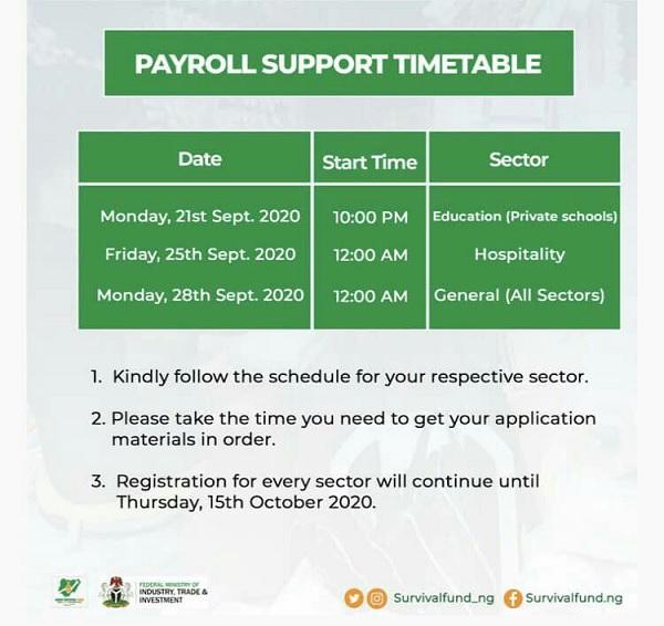 Survival Fund registration