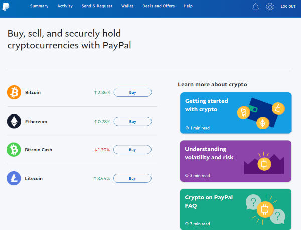 Cryptocurrency Feature Now Available In All US PayPal Account