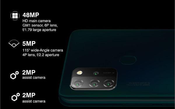 Gionee M12 cameras