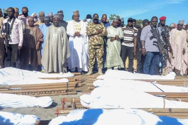 Burial Of 43 Farmers Killed by Boko Haram