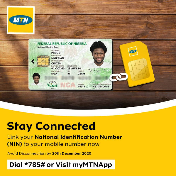 Link your MTN number to your NIN