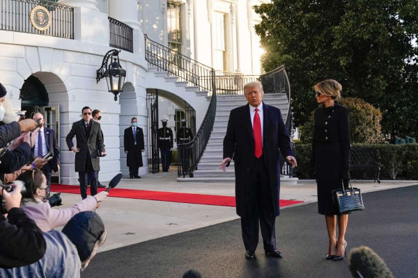 Donald Trump Leaves White House 2
