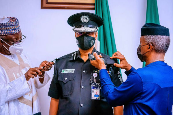 Yemi Osinbajo Decorates New Acting IGP Usman Alkali Baba 1